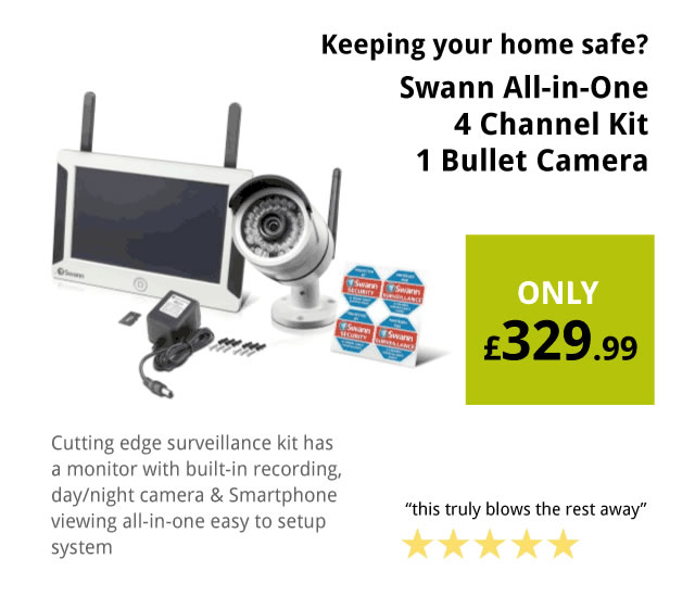 Swann Advanced all-in-one 4 Channel Compact CCTV Kit with Bullet Camera